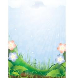 Bright sunny landscape vector