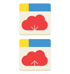 Cloud download and upload icon vector