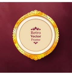 Baroque golden frame vector