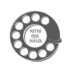 Retro disk dialer vector