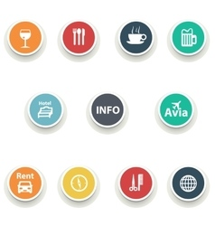Set of round icons vector