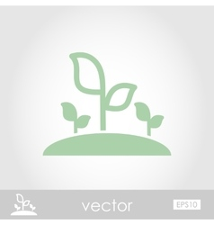Plant sprout icon vector