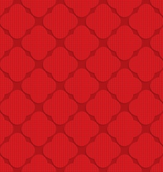 Red checkered rounded four foils vector