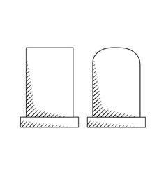 Hand drawn headstones vector