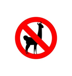 Stop lama alpaca lama is forbidden frozen wild vector