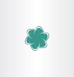 abstract business logo tech icon vector image