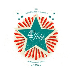 4 july card vector image