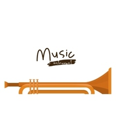Trumpet instrument isolated icon design vector