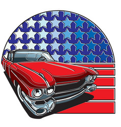 American style badge vector