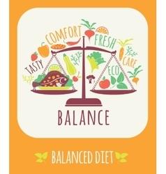 Balanced diet vector image