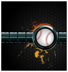 baseball sign vector image vector image