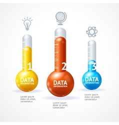 business infographics with thermometr vector image