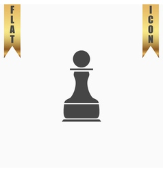 Chess pawn icon vector