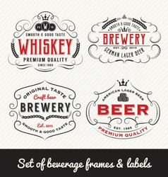 Classic Vintage Beverage Frame and Labels Design vector image