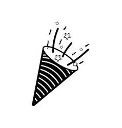 Contour horn party tool design vector