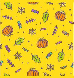 cute cartoon halloween background vector image vector image