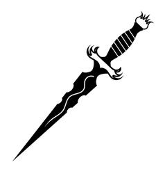 dagger tattoo vector image