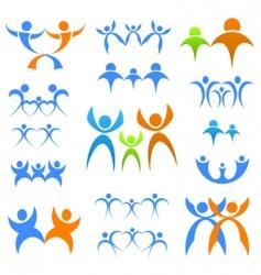 family logos vector image vector image