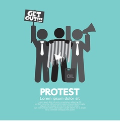 Group Of Protester Graphic Symbol vector image