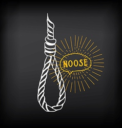 Hanging rope noose sketch design vector