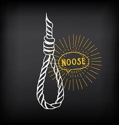 Hanging rope noose sketch design vector