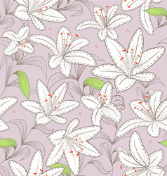 liliiis pattern vector image vector image