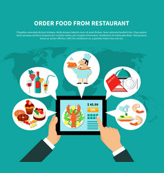 online ordering food concept vector image