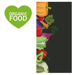 Organic food card vegetables harvest image vector
