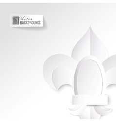 Origami lily on a white background vector image vector image
