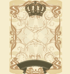 royal background and banner vector image vector image