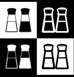 Salt and pepper sign black and white vector