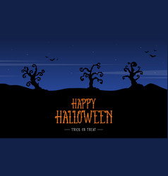 Silhouette scenery halloween design background vector