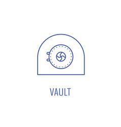 simple vault emblem vector image