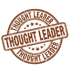 Thought leader brown grunge stamp vector