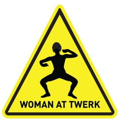 Woman at twerk vector