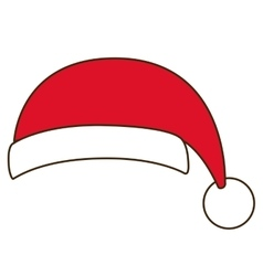 Santas hat of merry christmas design vector