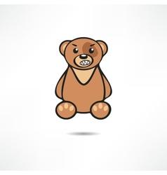 Angry bear vector image