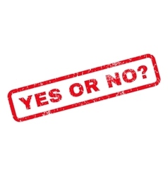 Yes or no question rubber stamp vector