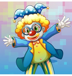 A clown with a colorful costume vector image
