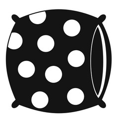 Pillow with dots icon simple style vector