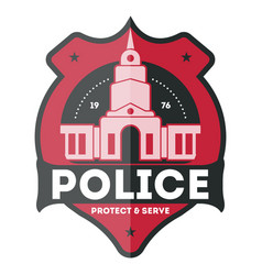 Police law enforcement badge vector