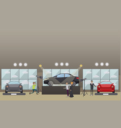 Car show in flat style vector