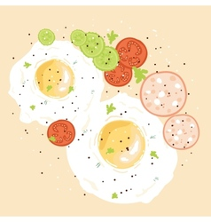 Egg breakfast vector