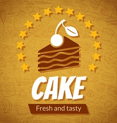 Bakery card template vector