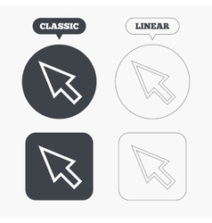 Mouse cursor sign icon pointer symbol vector