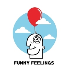 Graphic design of funny feelings vector