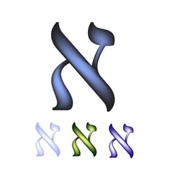 Hebrew font the hebrew language the letter aleph vector