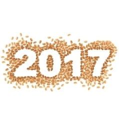 Grains of wheat 2017 vector