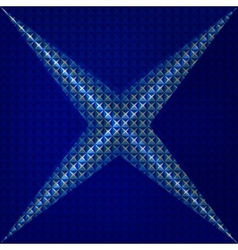 Abstract geometry triangles bright blue pattern vector image