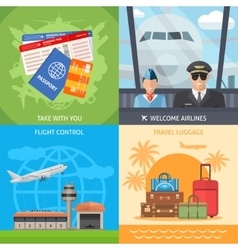 Air travel concept vector